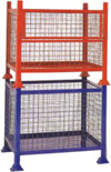 Wire Mesh Pallets with Stacking Legs - Image