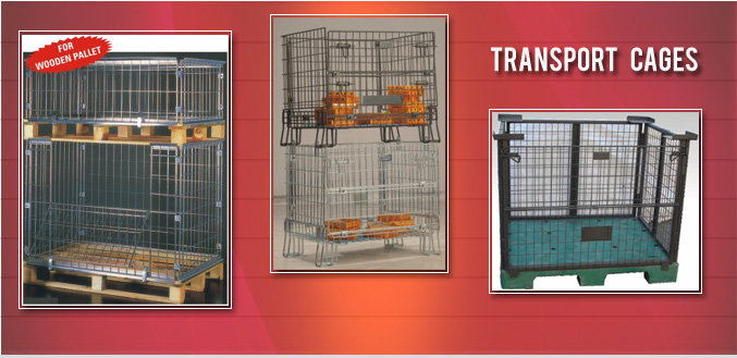 Wire Mesh Pallets Transport Cages - Images