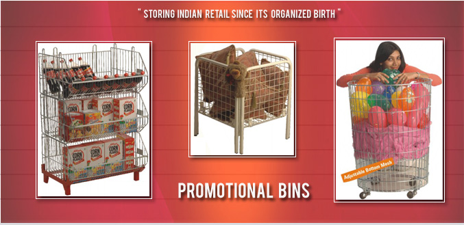 Promotional Bins for Shopping Mall - Image