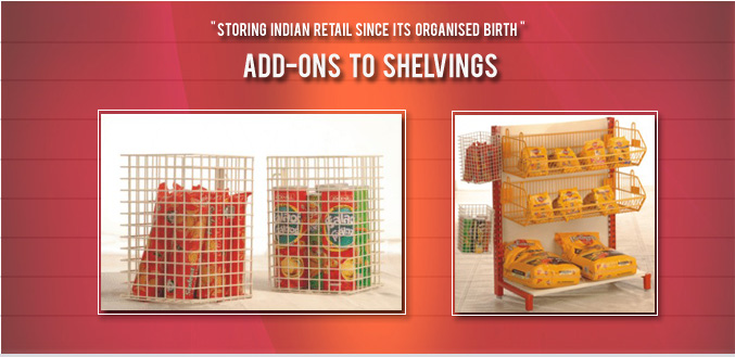 Shelving Add Ons For Shopping Malls & Retail Stores- Image