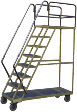 Warehouse Mobile Ladder Trolley Image